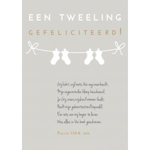 Een tweeling, GEFELICITEERD, Psalm 139:9 ber., B7
